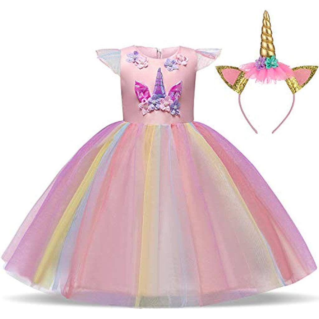 Rosa per bambini Fata rosa principessa ragazze Light Up Costume Vestito Da Festa
