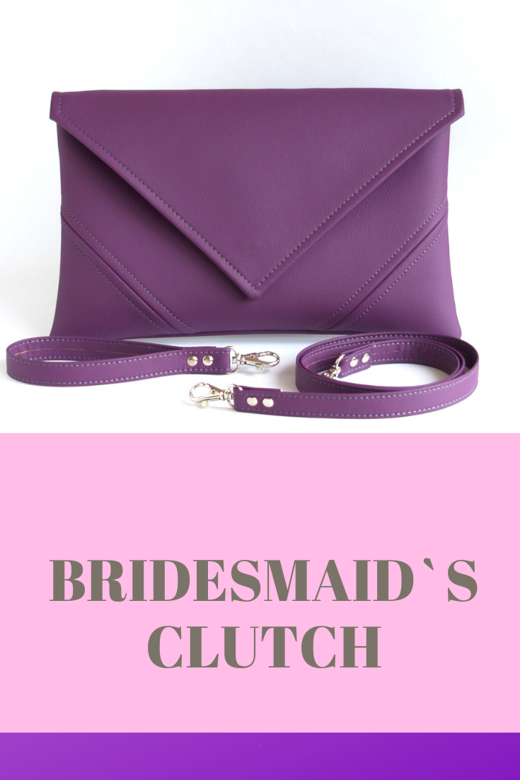 7e5ec7dfd88 ... Wedding Bag Handbag. Purple clutche purse made from vegan leather.  Large selection of colors. When ordering a set of clutch discount is  available.