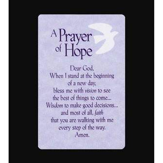 Pocket Card Bookmark A A A Prayer Of Hope Bkm 9483 8 99 Find Christian Gifts And Jewelry Dicksonsgiftsh Prayers For Hope Prayers Importance Of Prayer