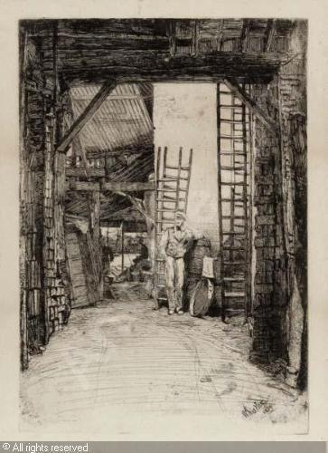 Whistler, etching