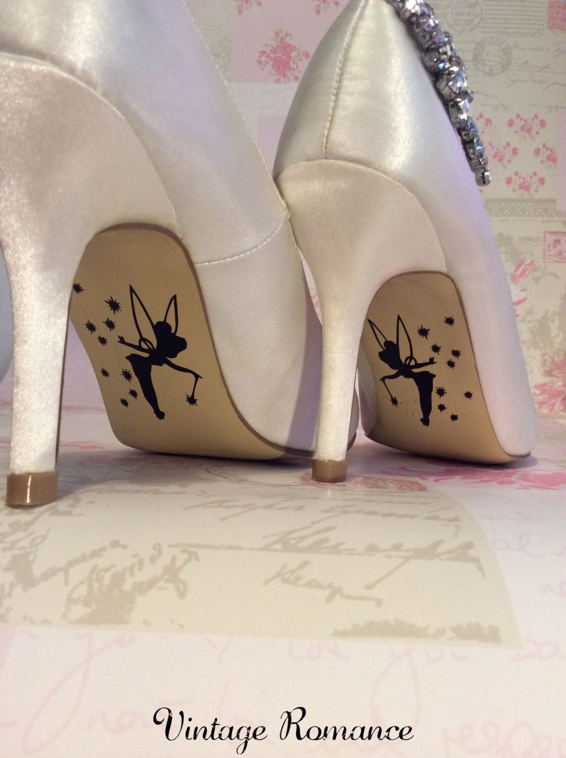Disney Wedding Day Shoe Sole Vinyl Decals Stickers Tinkerbell By Vintageromance2017 On Etsy Https