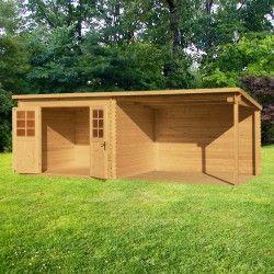 abri toit plat 9m plus terrasse couverte lat rale 9m. Black Bedroom Furniture Sets. Home Design Ideas