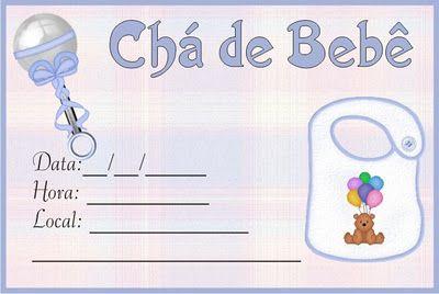 Blog do passo a passo: convites para chá de bebê - modelos PARA IMPRIMIR