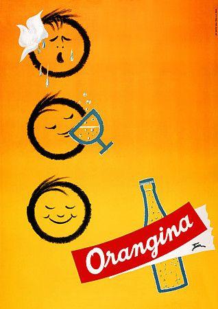 1950s Orangina Ad #DoYouRemember #Retro #FancyOrangeJuice CHECK OUT THE LABEL LOOK!
