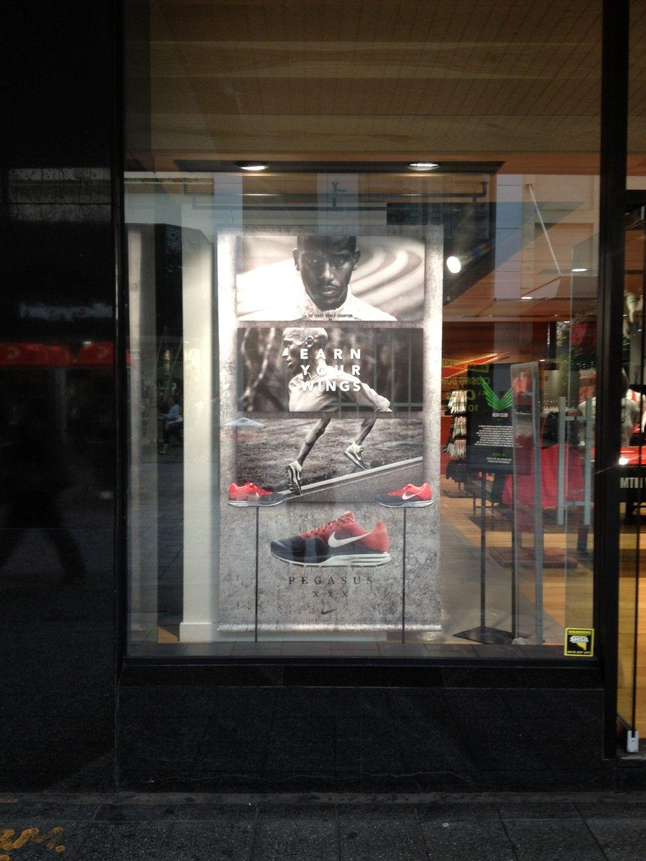 Nike Pegasus - Retail window display - shoe display ...