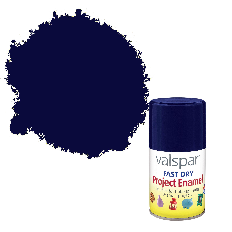 ... Valspar Kitchen And Bath Enamel By Valspar Night Blue Satin Enamel  Spray Paint 100 Ml Enamel ...
