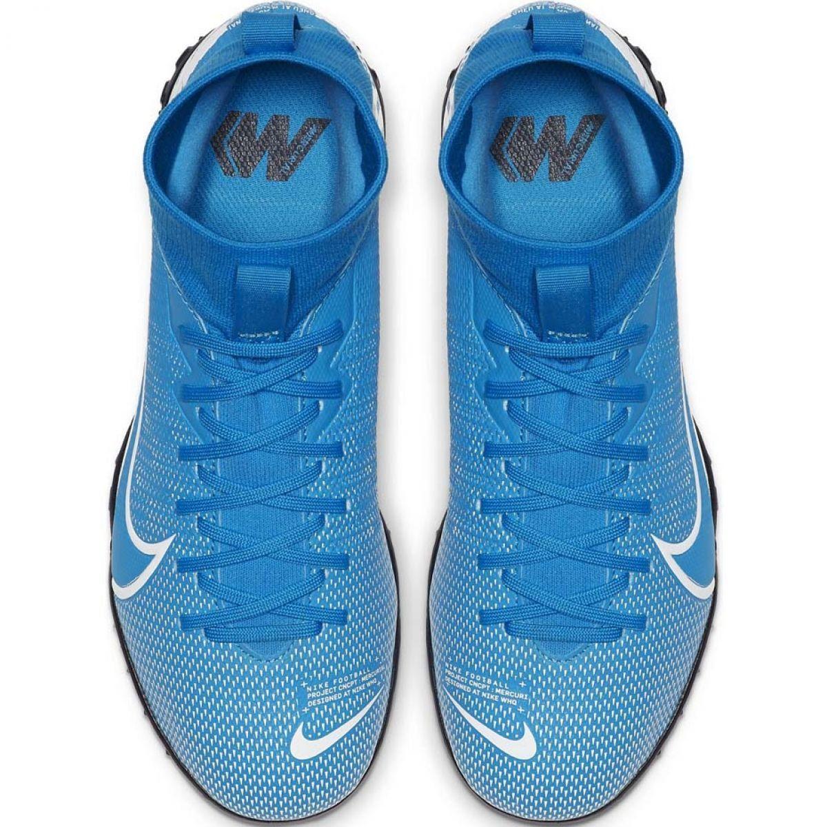 Buty Pilkarskie Nike Mercurial Superfly 7 Academy Tf Jr At8143 414 Niebieskie Wielokolorowe Football Shoes Kids Football Boots Blue Shoes