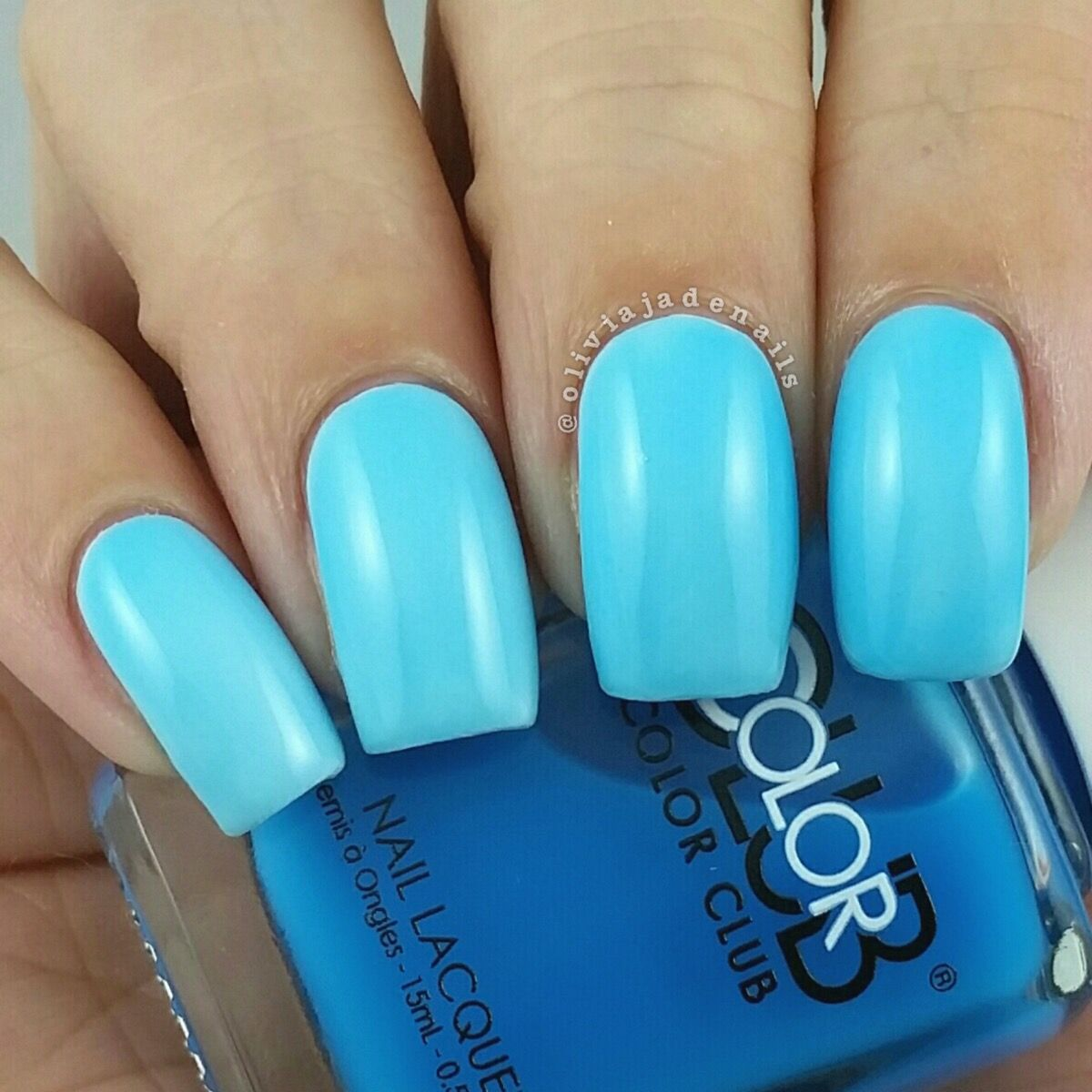 Color Club Out Of The Blue (over white) swatched by Olivia Jade ...