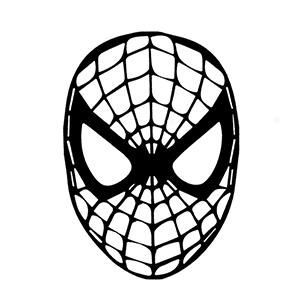 Spiderman Spider Decal Cartoon Vinly Sticker Laptop Car Window Black or White!