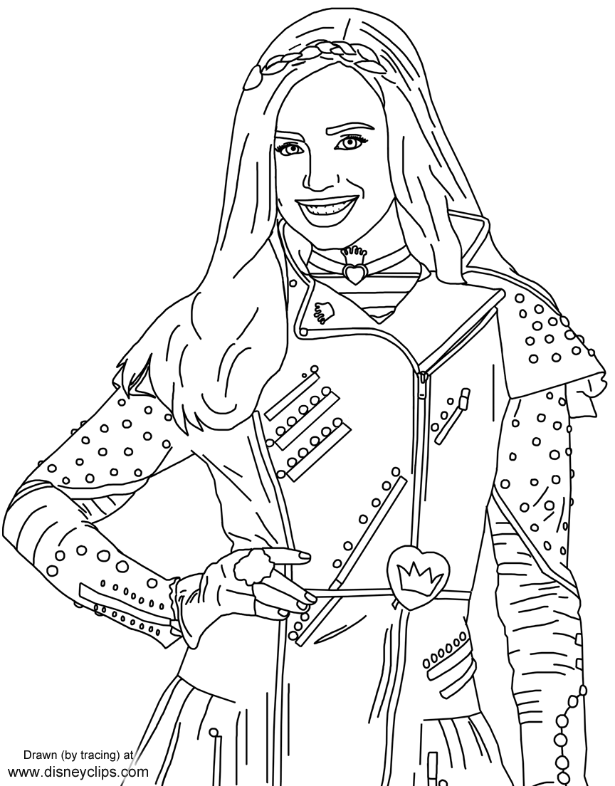disney descendants coloring pages Evie from Disney's #Descendants | Free printables | Pinterest  disney descendants coloring pages