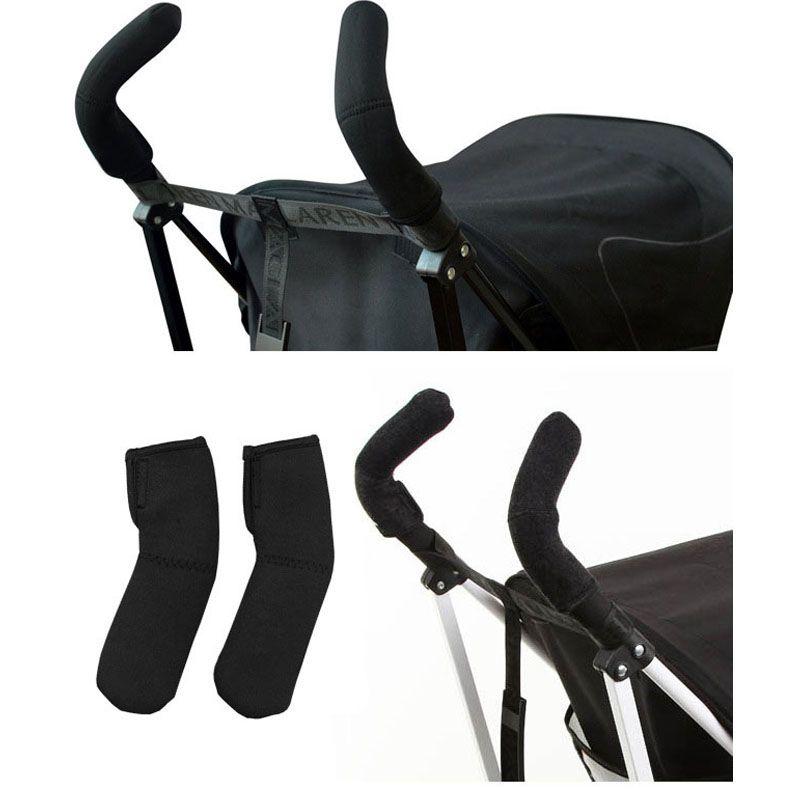 2 sztuk/partia Neoprenu Wózka Dziecięcego Grip Pokrywa Wagony Poussette Uchwyt Protector Pokrywa Czarny Kolor