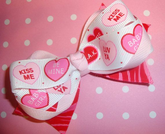 Candy Hear Valentine's Bow