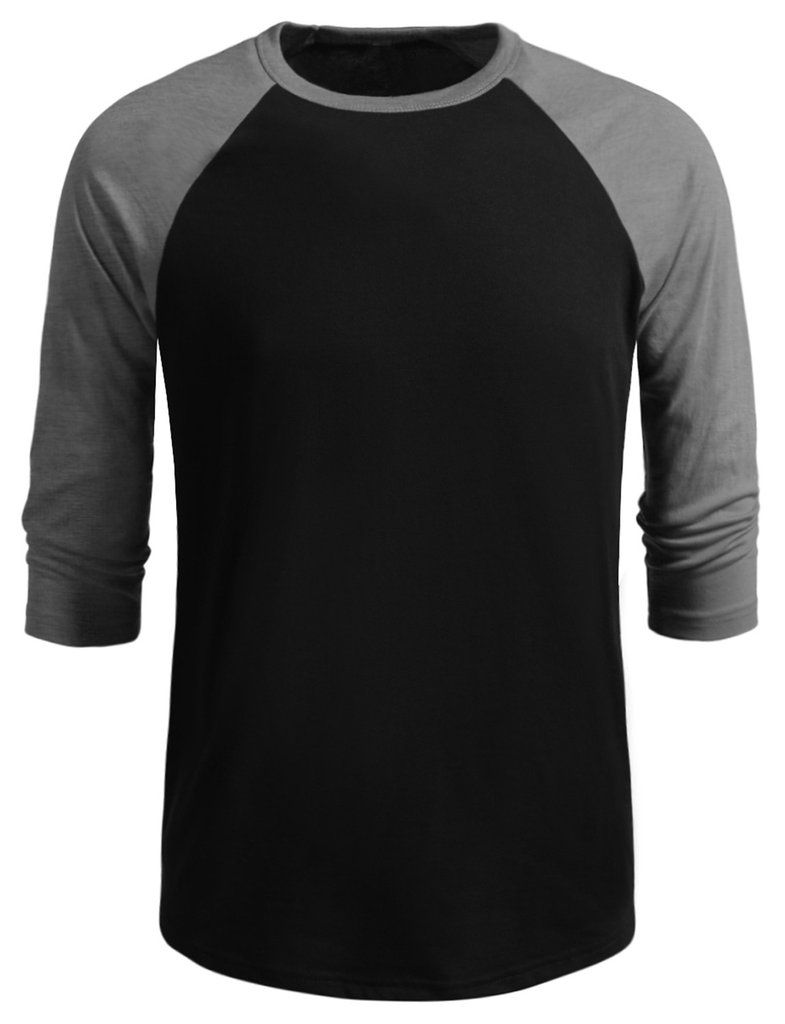 fccd422f0808e LE3NO Mens 3 4 Sleeve Raglan Crew Neck T shirt Camisas De Hombres