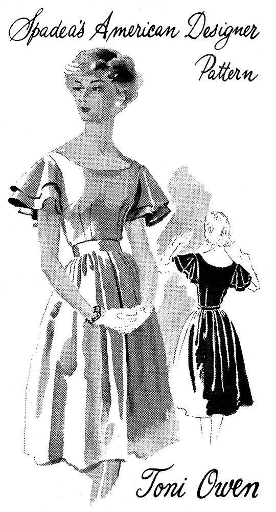 1960s Vintage Sewing Pattern: Spadea American Designer Dress 1383