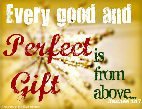 James 1:17 (NKJV) Every good gift and every perfect gift is from above, and  comes down from the Father… | Memory verse, Christian scripture,  Inspirational thoughts