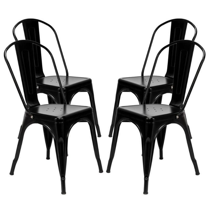Patio Lounge Chair Repair Kit: Steel Backrest Chairs 4pcs Home Garden Lounge Furniture