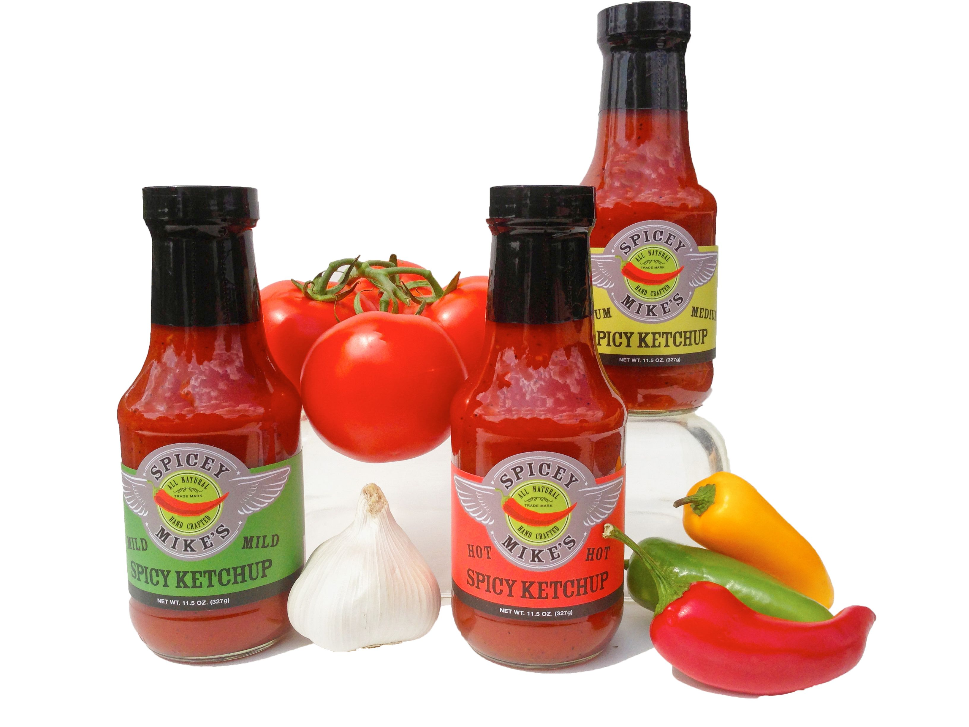 All Natural Spicy Mike's Spicy Ketchup - Hot - Medium - Mild order on #Amazon