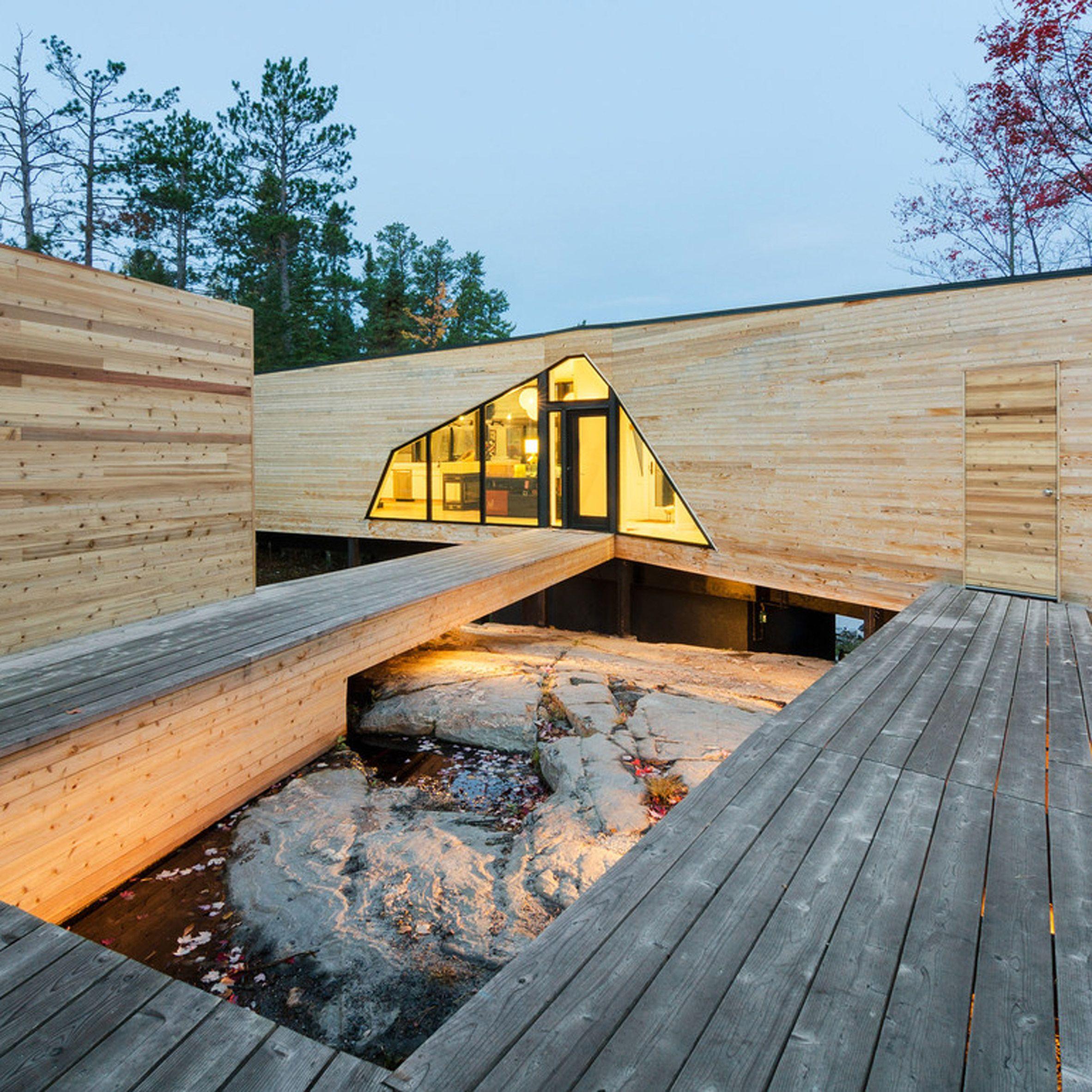 Cedar Wraps Around This Ontario Lake House By American