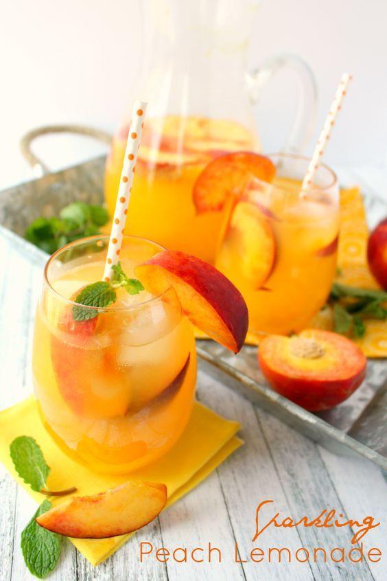 Sparkling Peach Lemonade - Lil' Luna