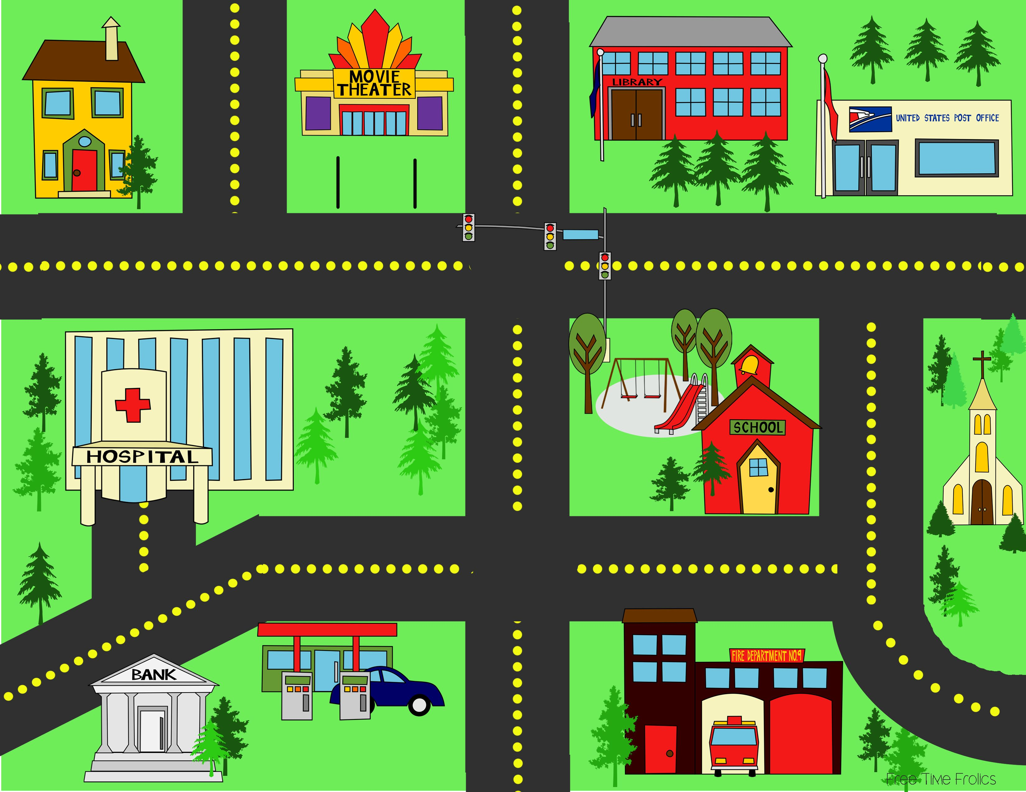 city streets playmat city streets street and free time. Black Bedroom Furniture Sets. Home Design Ideas