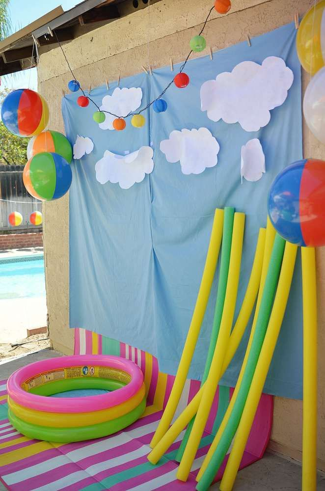 Beach Ball Birthday Party Backdrop See More Planning Ideas At CatchMyParty