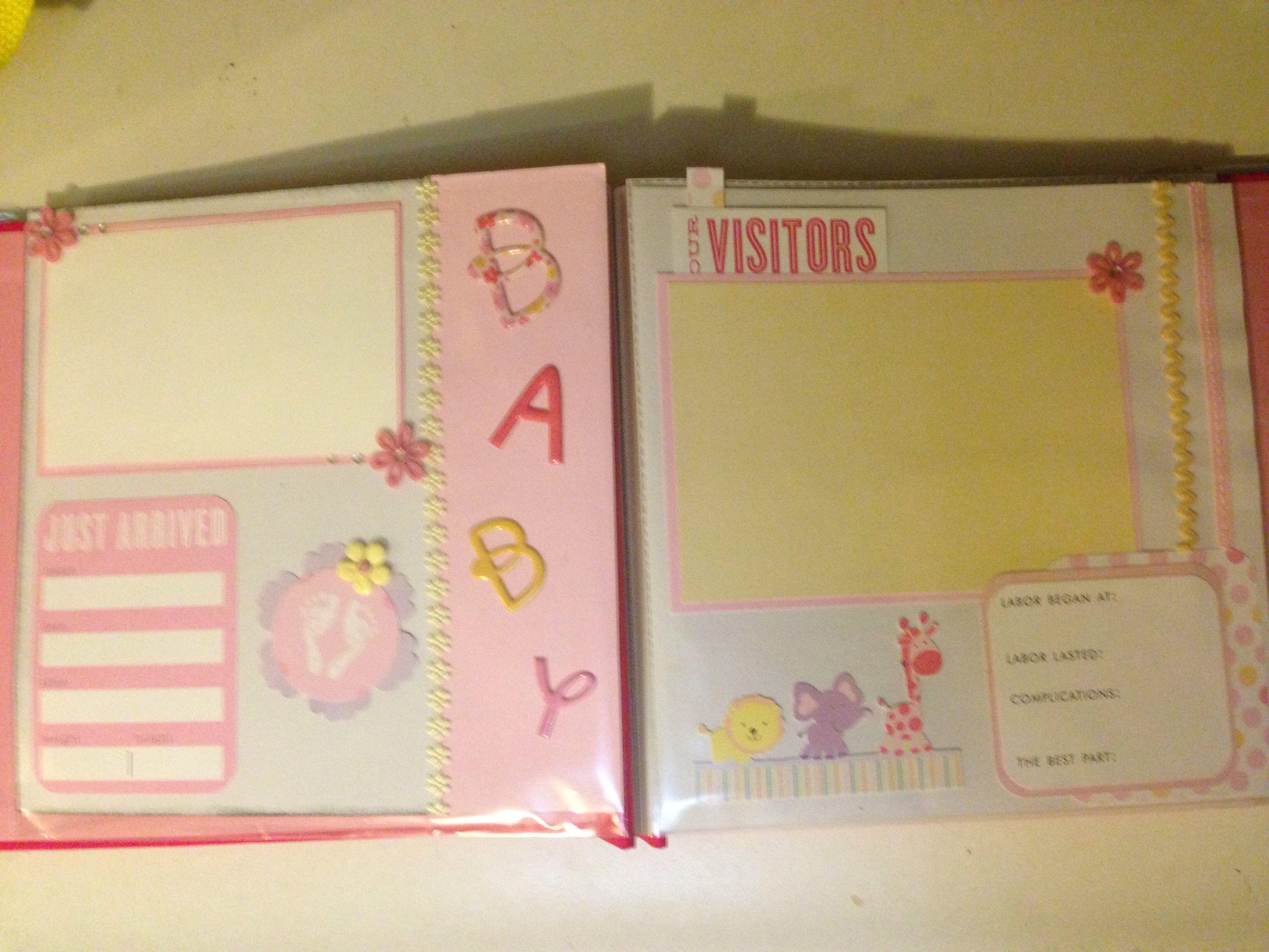 Baby scrapbook ideas on pinterest - Diy Baby Scrapbook Page 3