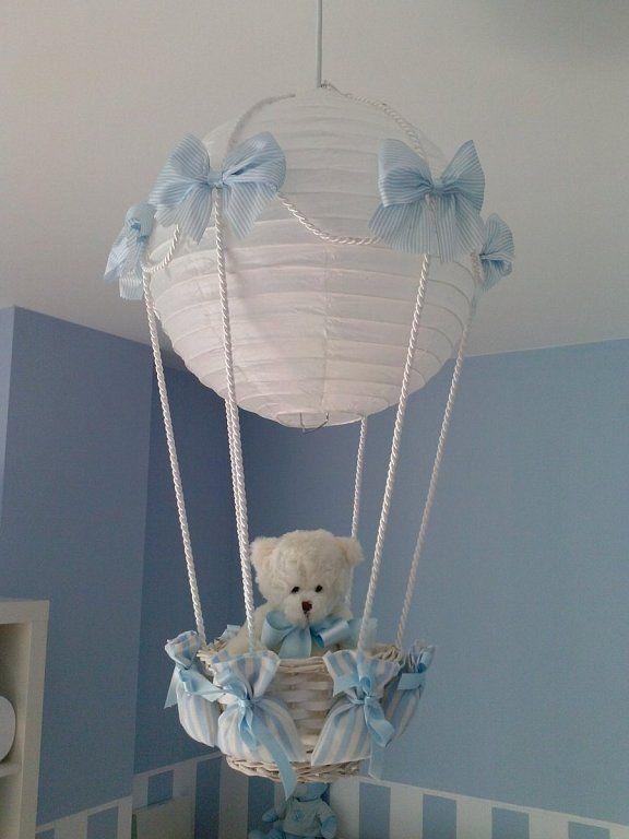 L mpara globo para la habitaci n del beb souvenirs ma cristina hot air balloons pinterest - Lamparas habitacion bebe ...