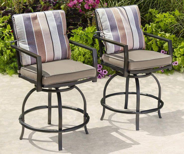 Wilson & Fisher Bayshore High Bistro Chairs, 2Pack