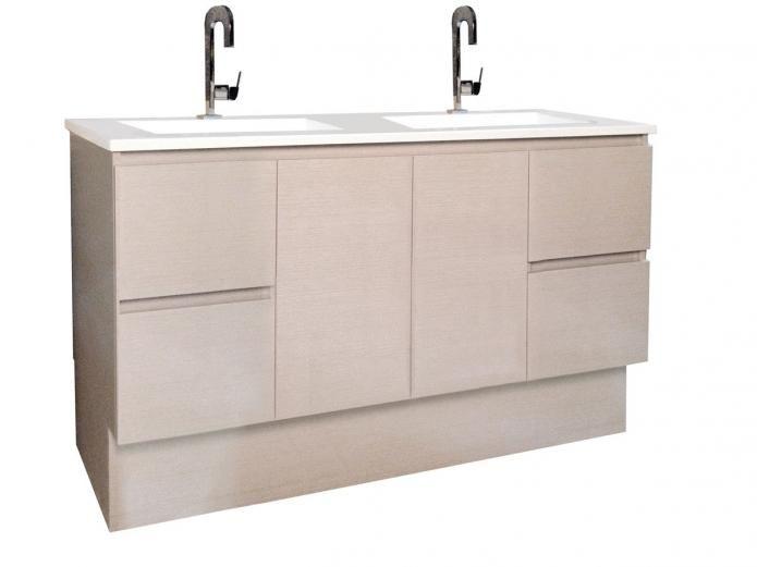 Posh Solus 1500 Double Vanity Unit With Kick Bathroom Furniture Vanity Bathroom Units Double Vanity Unit