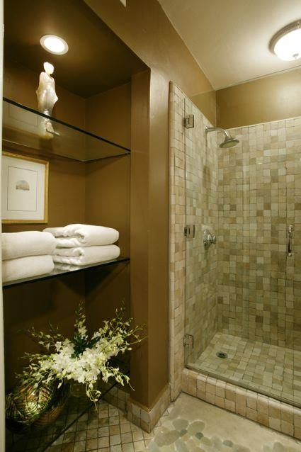 Custom bath with Italian stone shower. | Custom bath, Stone shower, Master  bathroom