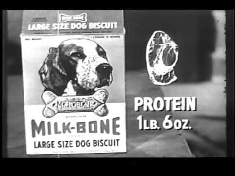 Rin Tin Tin Milk Bone Commercial 1950s Famous Dogs Pet Market
