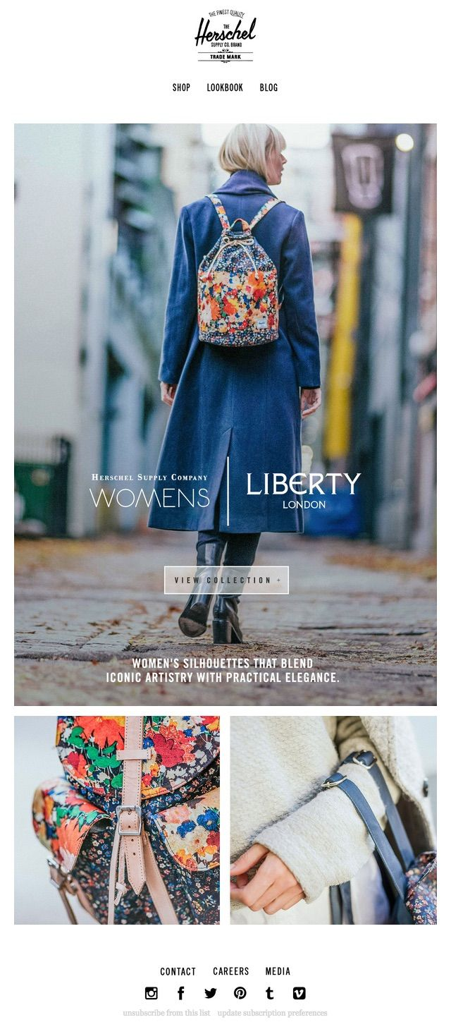 Herschel Supply Company  WomenS Collection For Liberty Of London