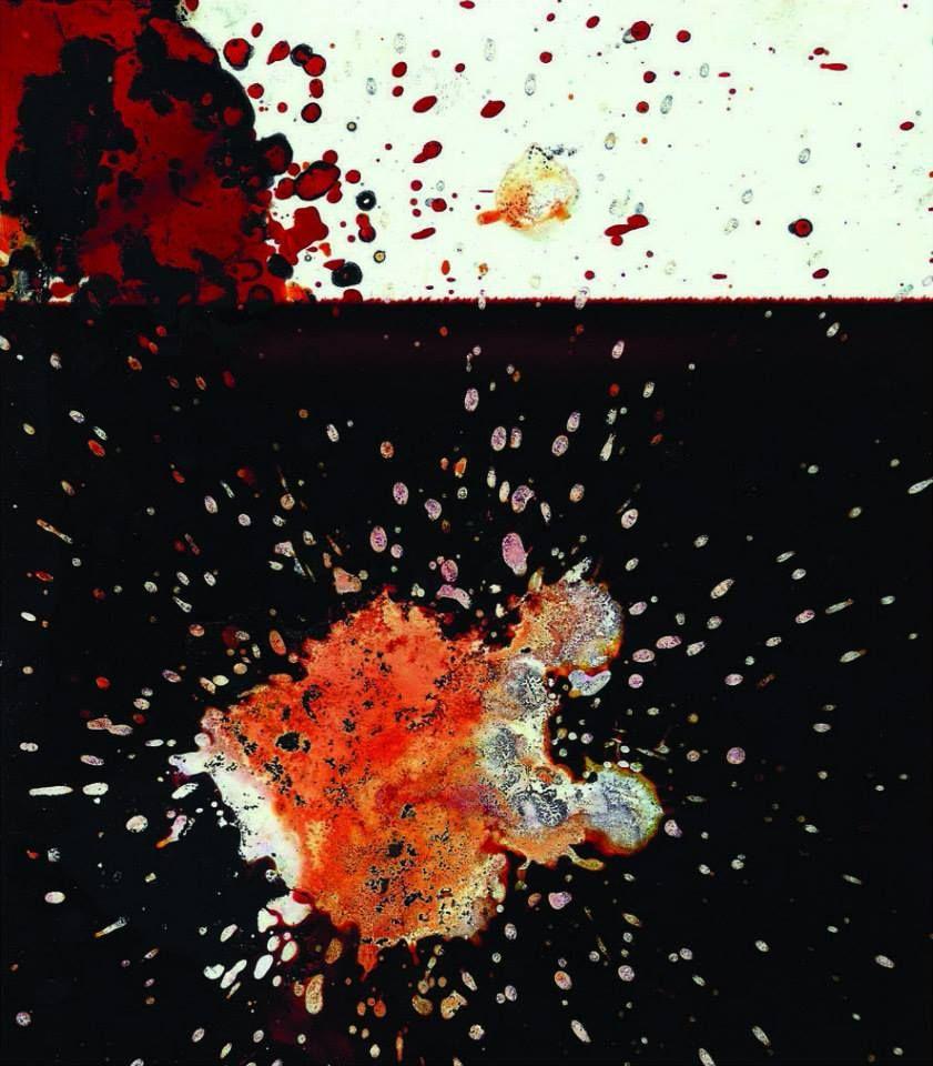 Manolo Garibay, De la serie pequeñas pinturas 4, mixta sobre papel, 13 x 18 cm.