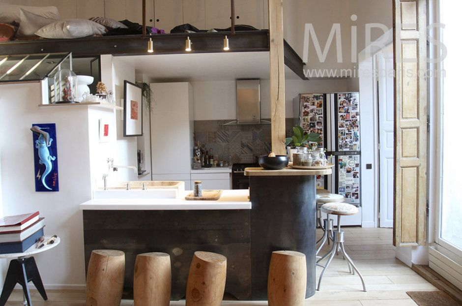 Coin Cuisine Sous Mezzanine C1544 Mires Paris Inside Coin Cuisine
