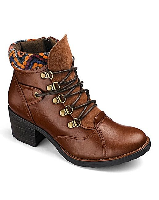 save off finest selection lowest price Heavenly Soles Lace Up Ankle Boots D Fit   J D Williams ...