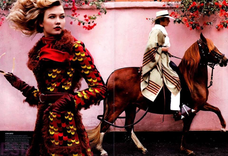 "Vogue, September 2014 ""Dark Horse"" Photographed by: Mario Testino"