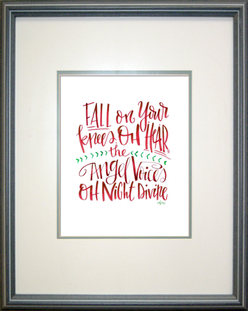 bucket list handwritten Christmas Art Prints are HERE! Check out my shop at