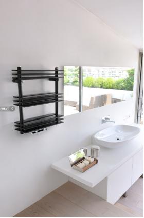 Caleido Shelf Heated Towel Rails Towel Warmers Hydronic Heating Hydronic Radiators Heaterwarehouse Towel Warmer Bathroom Design Mounted Towel Warmer