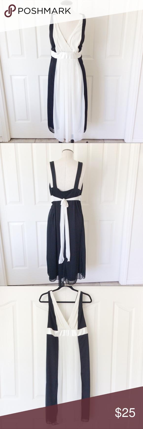 Ruby Rox 18 Black White Formal Dress Midi Plus Clothes Design Midi Dress Formal White Formal Midi Dress [ 1740 x 580 Pixel ]