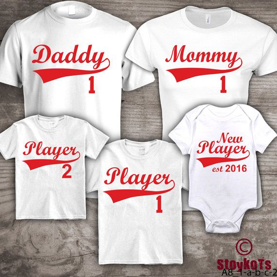 eaae704f Baseball family t-shirts Mommy Daddy set of 5 shirts, customization of  wording, personalized in your own words, by StoykoTs on etsy