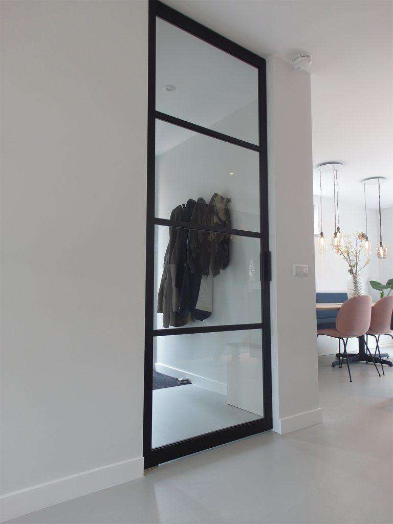 Gietvloer stalen deur | Woonkamer | Pinterest - Deuren, Stalen ...