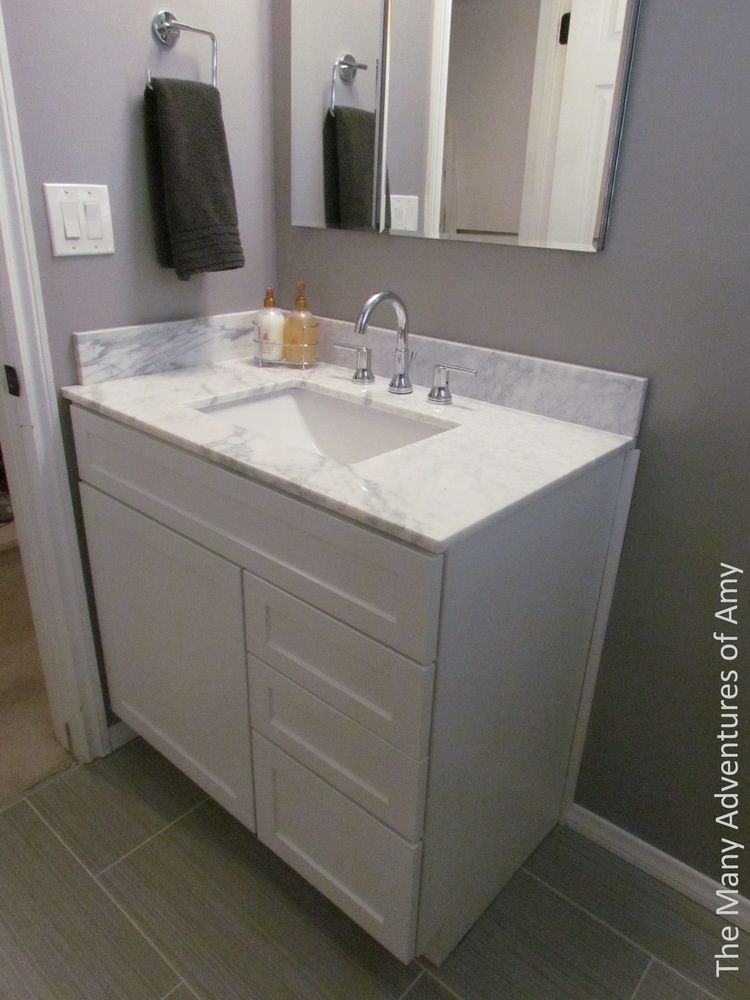 Tiny Bathroom Remodel White Cabinet With Pegasus