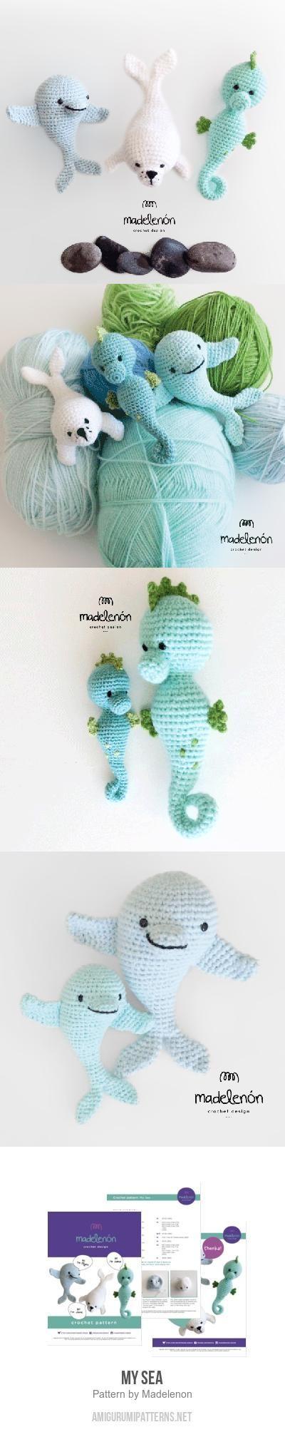 My sea amigurumi pattern by Madelenon | Tejido, Ganchillo y Patrones ...