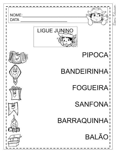 Dani Educar : festa junina | 1º ANO Português | Atividades ...