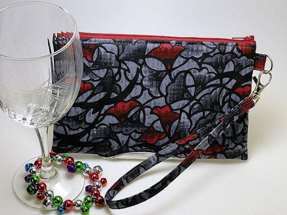 Party Wristlet Evening Bag Passport Cellphone by CottonCellar, $24.00