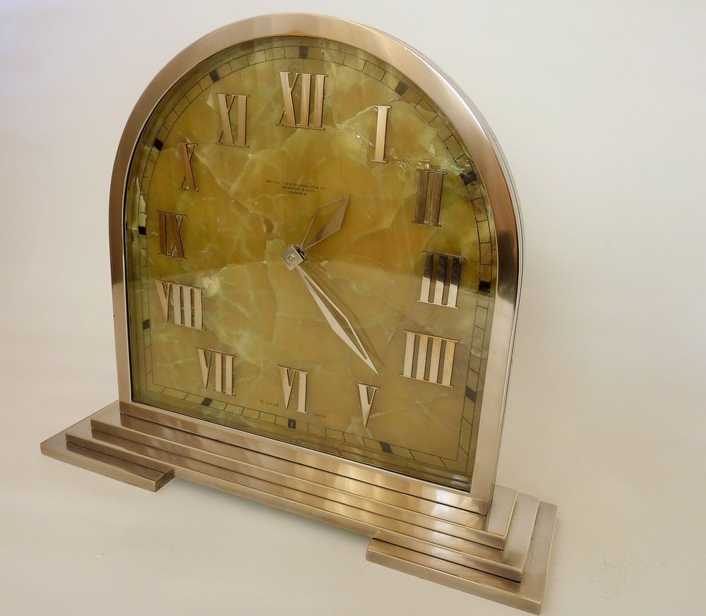 SUPERB 1920/30 s ART DECO CLOCK BY THE GOLDSMITHS & SILVERSMITHS CO ...