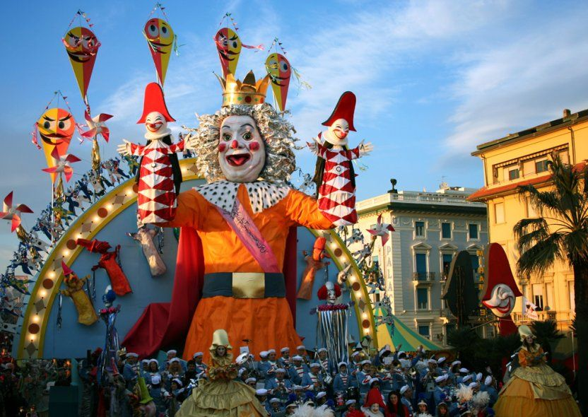 Viareggio Carnival is 135 years old and is doubtless the most famous carnivalesque event in Italy, and one of the most important of Europe, it's famous worldwide for its incredible floats,Huge Trojan horse-like puppets parade around the town, competing for the finest float award.