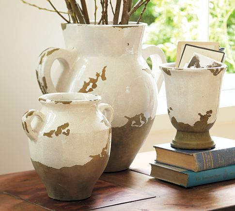 Large Decorative Vases And Urns Mesmerizing Pottery Barn Tuscan Urnsi Have One In A Golden Terracotta Inspiration Design