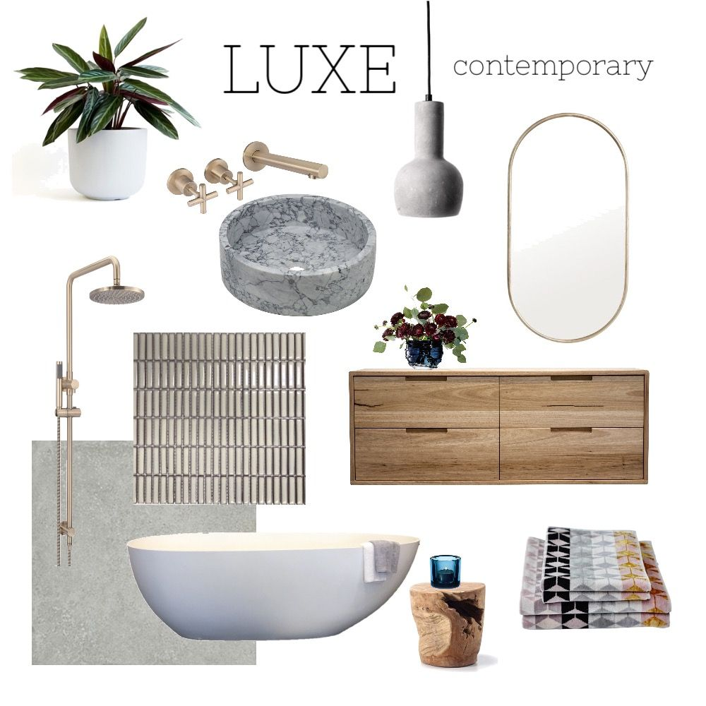 Lux bathroom Mood Board #moodboards