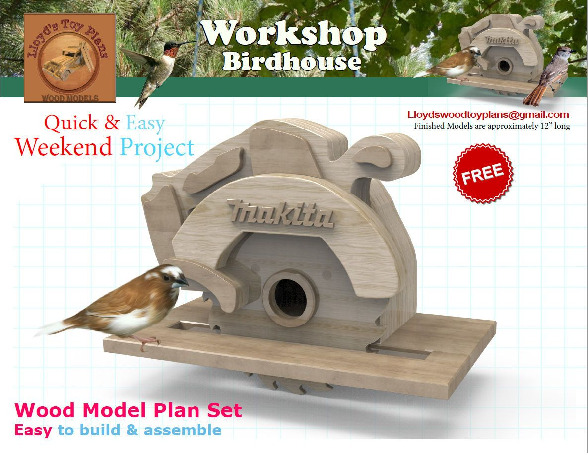free plan workshop birdhouse | wood toy plans forums | بيوت
